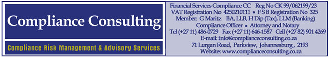 Welcome to the official magazine of the saifm - Compliance officer job description financial services ...